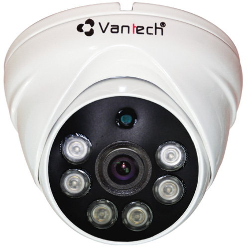Camera Vantech VP-183D 4.0 Megapixel, 6 Array Led IR 30-40m,Ống kính F3.6mm, Defog, Onvif, H.265