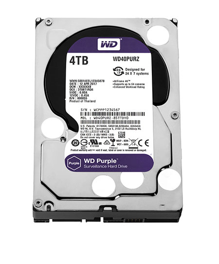 HDD Western Purple 4TB/5400 Sata 3 64Mb