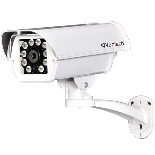 Camera Vantech VP-202E 5.0 Megapixel, 10 Array Led IR 60-80m, Ống kính F3.6mm, Defog, Onvif